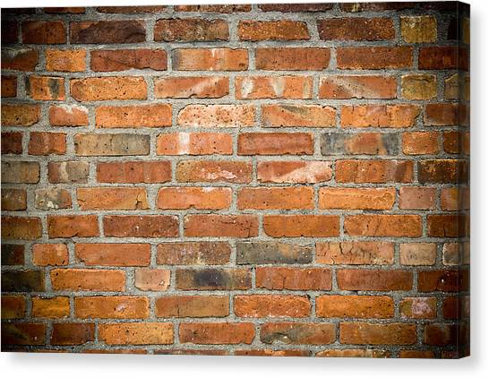 Mortar Canvas Print - Brick Wall by Frank Tschakert