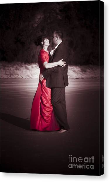 Bridal Canvas Print - Bride And Groom Dancing by Jorgo Photography - Wall Art Gallery