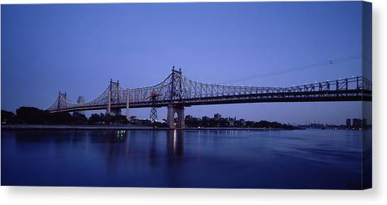 City Sunsets Canvas Print - Bridge Across A River, Queensboro by Panoramic Images