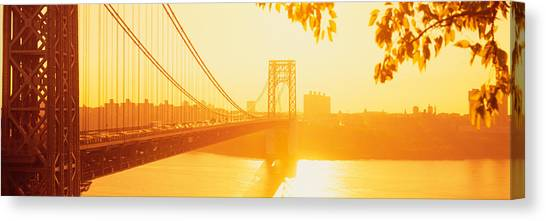 George Washington Bridge Canvas Print - Bridge Across The River, George by Panoramic Images