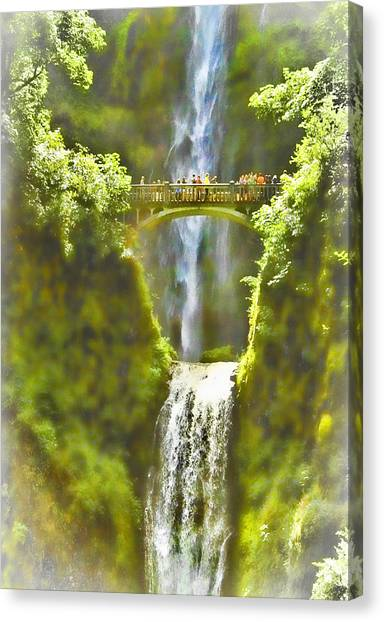 Bridge At The Falls Canvas Print