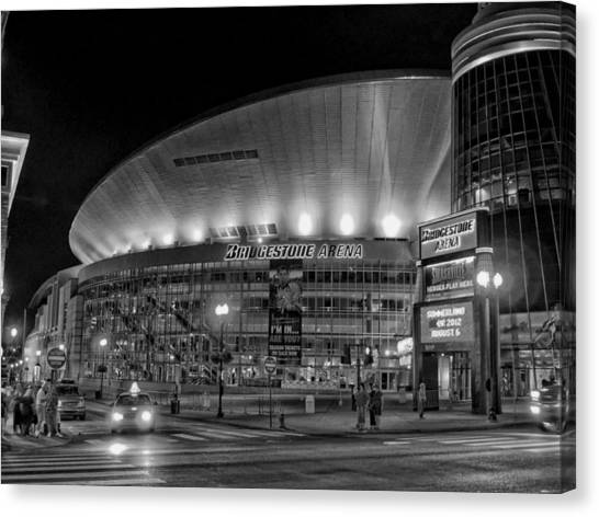 Nashville Predators Canvas Print - Bridgestone Arena - Nashville by Mountain Dreams