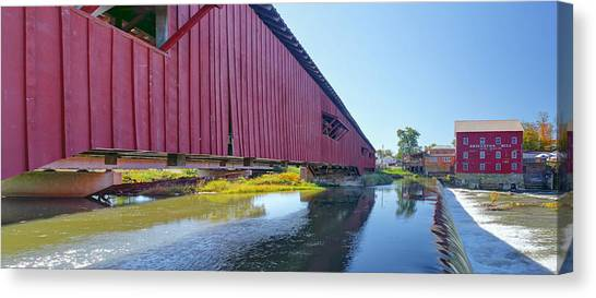 Bridgeton Bridge And Mill Canvas Print