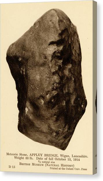 The British Museum Canvas Print - British Meteorite by Natural History Museum, London/science Photo Library