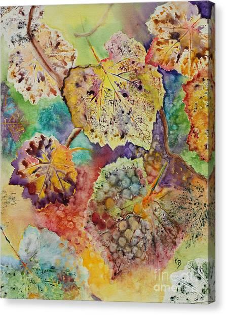 Canvas Print featuring the painting Broken Leaf by Karen Fleschler