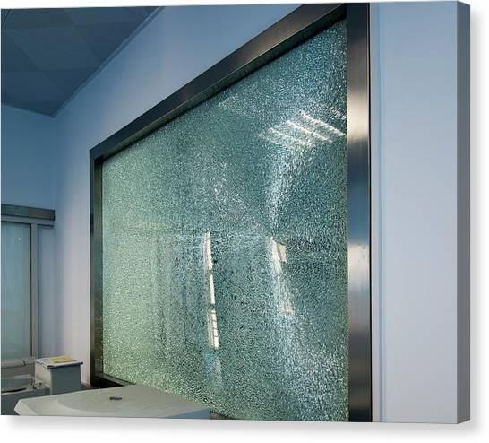 Broken Tempered Glass Window Canvas Print By Pan Xunbin
