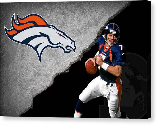 Denver Broncos Canvas Print - Broncos John Elway by Joe Hamilton