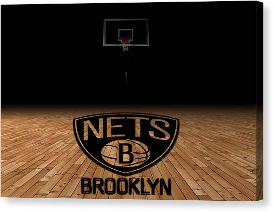 Brooklyn Nets Canvas Print - Brooklyn Nets by Joe Hamilton