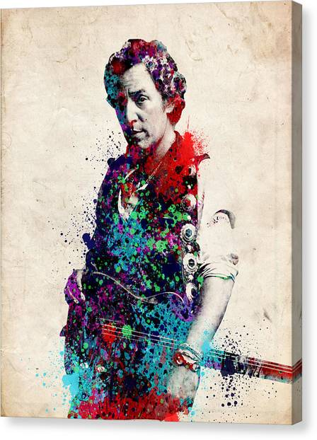 Bruce Springsteen Canvas Print - Bruce Springsteen  by Bekim Art