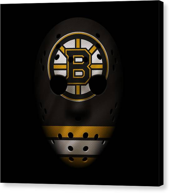 Boston Bruins Canvas Print - Bruins Jersey Mask by Joe Hamilton