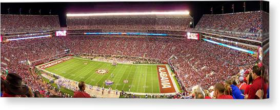 Conference Usa Canvas Print - Bryant Denny Stadium by Georgia Fowler