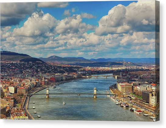 Parliament Hill Canvas Print - Budapest Cityscape by Mammuth