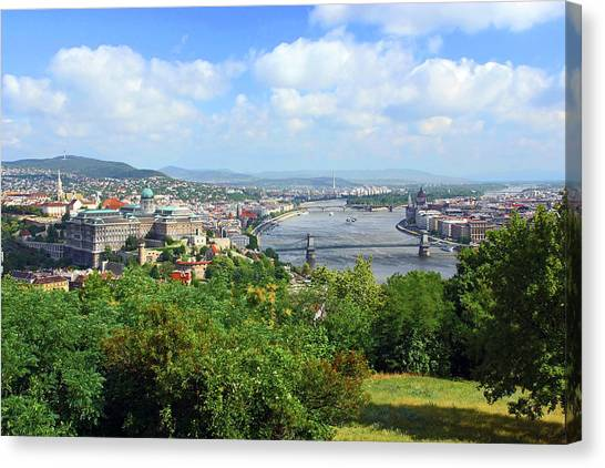 Danube Canvas Print - Budapest, Hungary, Scenic View by Miva Stock