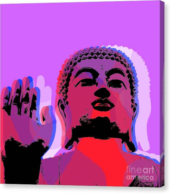 Buddha Pop Art - Warhol Style Canvas Print