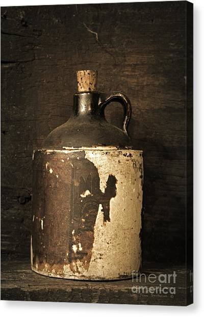 Mountain Dew Canvas Print - Buddy Bear's Little Brown Jug by John Stephens