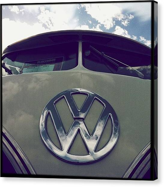 Vw Bus Canvas Print - #bugorama #sacramento #2013 #vw #bus by Exit Fifty-Seven