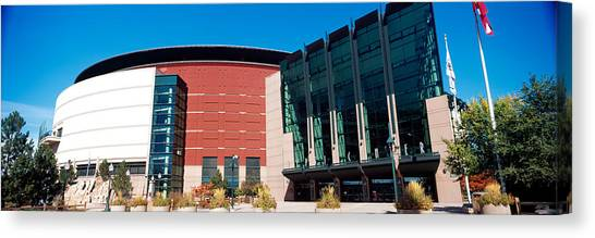 Pepsi Canvas Print - Building In A City, Pepsi Center by Panoramic Images