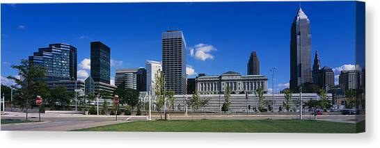 Stop Sign Canvas Print - Buildings In A City, Cleveland, Ohio by Panoramic Images