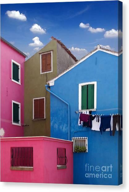 Burano 10 Canvas Print by Giorgio Darrigo