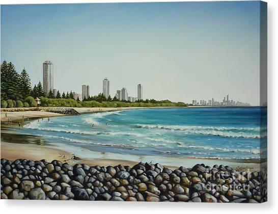 Burleigh Beach 210808 Canvas Print