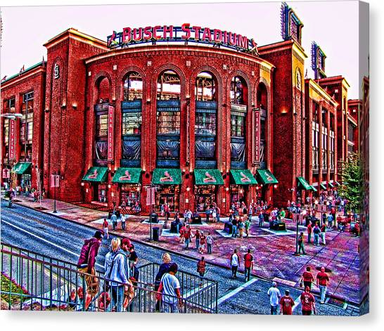 Busch Stadium Canvas Print