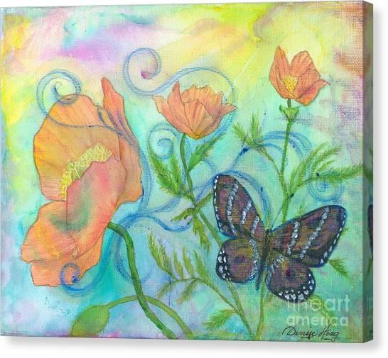 Butterfly Reclaimed Canvas Print