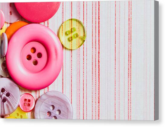 Colorful Canvas Print - Buttons by Tom Gowanlock
