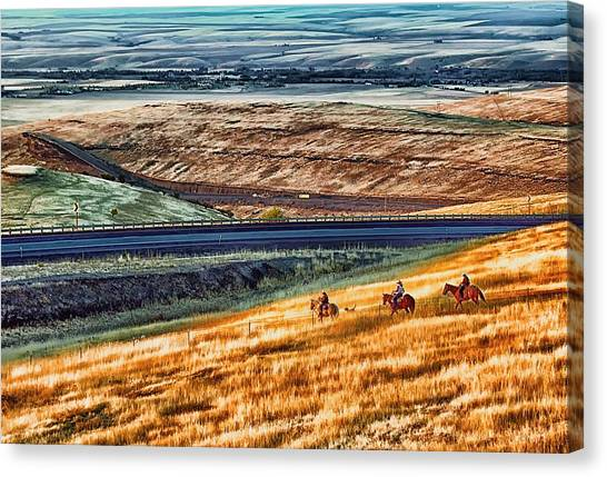 Cabbage Hill Pendleton Oregon Canvas Print