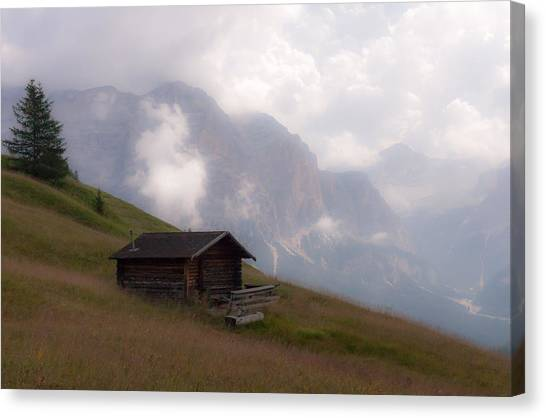 Cabin In The Dolomites Canvas Print