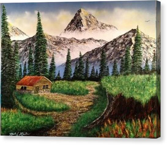 Canvas Print - Cabin In The Mountains by Michael Rucker