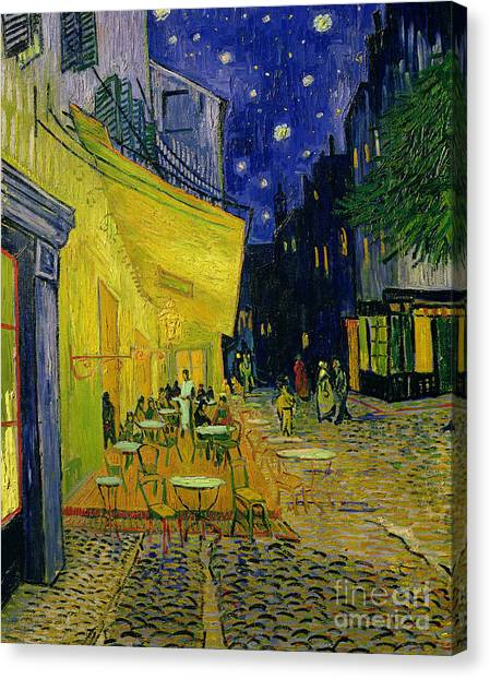 Cafes Canvas Print - Cafe Terrace Arles by Vincent van Gogh
