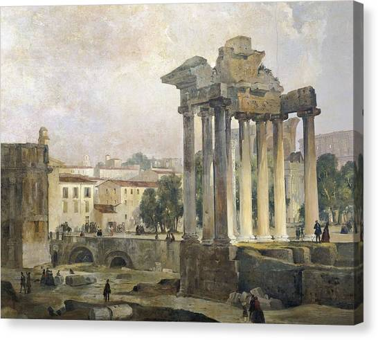 The Forum Canvas Print - Caffi, Ippolito 1809-1866. The Forum by Everett