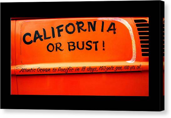 California Or Bust Canvas Print