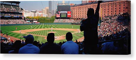 Baltimore Orioles Canvas Print - Camden Yards Baseball Game Baltimore by Panoramic Images