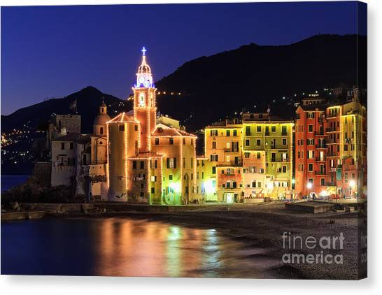 Camogli At Evening Canvas Print