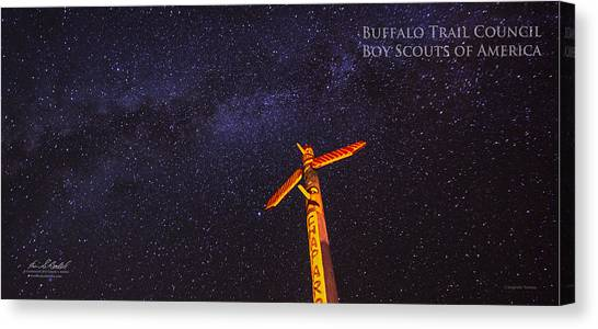 Boy Scouts Canvas Print - Campfire Totem by Aaron Bedell