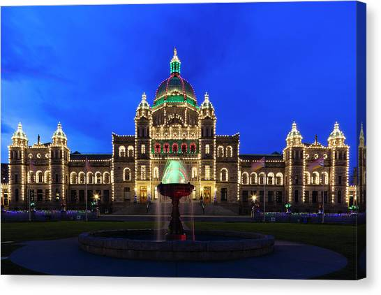 Parliament Canvas Print - Canada, British Columbia, Vancouver by Walter Bibikow