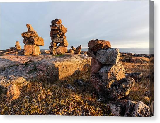 Nunavut Canvas Print - Canada, Nunavut, Territory, Setting Sun by Paul Souders