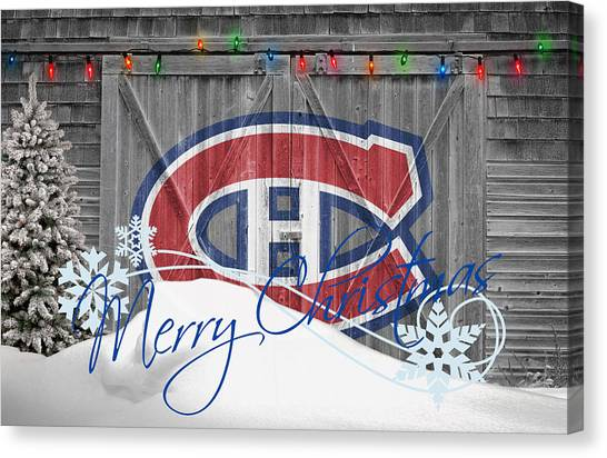 Montreal Canadiens Canvas Print - Canadiens by Joe Hamilton
