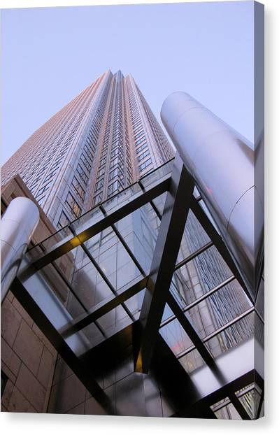 Canvas Print featuring the photograph Canary Wharf 1 by Helene U Taylor