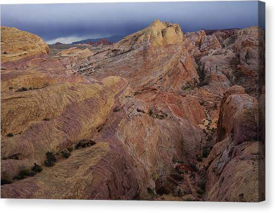 Valley Of Fire Canvas Print - Canyon Glow by Rick Berk