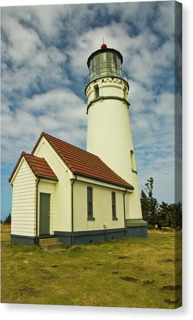 Cape Blanco Lighthouse, Cape Blanco Canvas Print by Michel Hersen