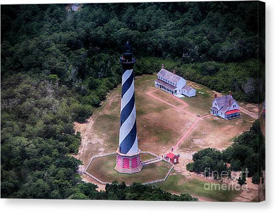 Cape Hatteras Lighthouse From Above Canvas Print