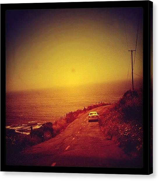 Driving Canvas Print - Cape Mendocino by Jill Battaglia