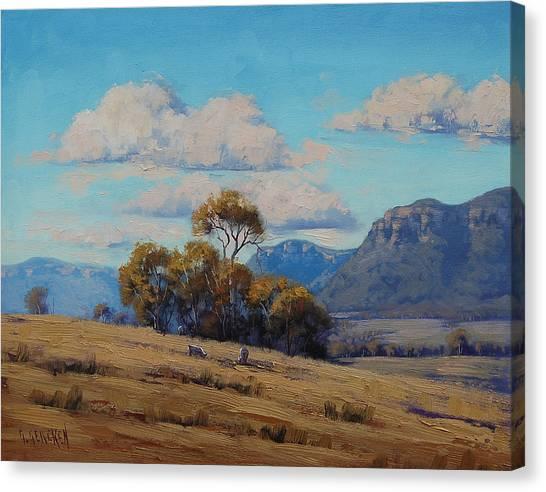 Homestead Canvas Print - Capertee Valley Australia by Graham Gercken