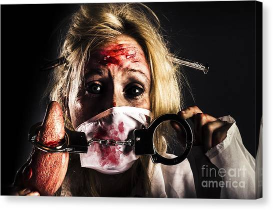 Critical Canvas Print - Cardiac Arrest From Horror Health Care by Jorgo Photography - Wall Art Gallery