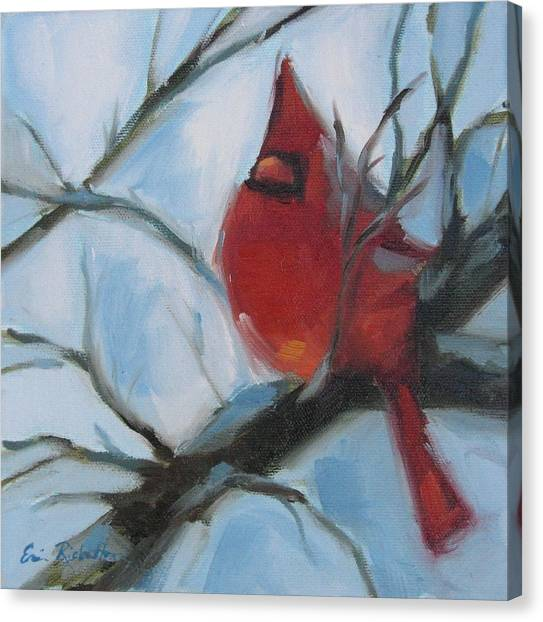 Cardinal Composed Canvas Print
