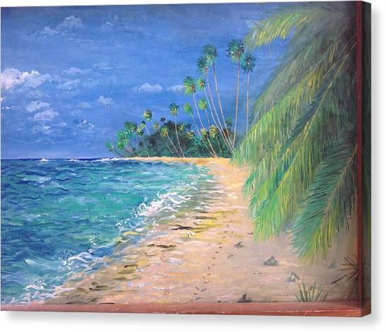 Caribbean Landscape Canvas Print