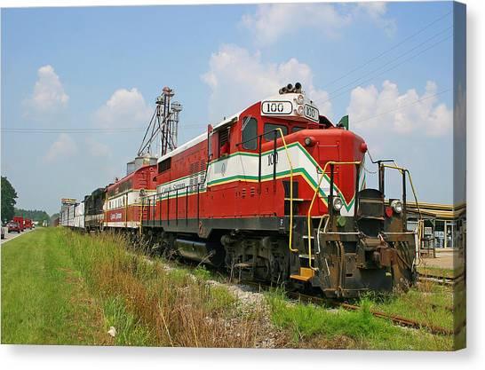 Atlantic Division Canvas Print - Carolina Southern Railroad by Joseph C Hinson Photography