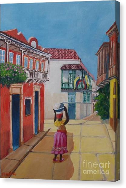 Cartagena Seller Canvas Print